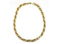 18K Yellow Gold Plated Silver Fancy Link Necklace