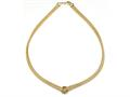 18K Yellow Gold Plated Silver Mesh Knot Necklace