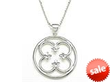 925 Sterling Silver Floral Pendant Necklace / Neckalce style: 630026