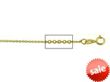 14 kt Yellow Gold bright-cut Cable Chain Necklace 1.1mm 18 inches style: 630052