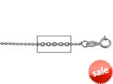 925 Sterling Silver bright-cut Cable Chain Necklace 1.4 mm 18 inches style: 630062