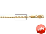 14 kt Pink Gold bright-cut Rope Chain Necklace 1.25mm 24 inches Lobster Lock style: 630106
