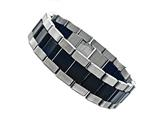 Finejewelers Stainless Steel and Rubber Mens Bracelet style: 77518
