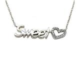 Sterling Silver Sweet Love Pendant with Diamonds style: 370002