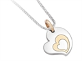 Inori Stainless Steel Heart Pendant