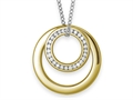 Inori Stainless Steel Pendant Necklace with Cubic Zirconia (CZ)