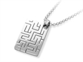 Inori Stainless Steel Cutting Dog Tag Pendant Necklace