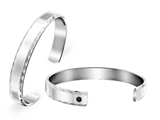 Inori Stainless Steel Bangle with Cubic Zirconia (CZ) style: INB23