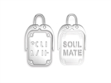 "Inori Spinning ""Soul Mate"" Stainless Steel Pendant style: INP95"