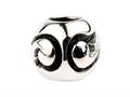 SilveRado™ Sterling Silver Unisex Abstract Curves Bead / Charm