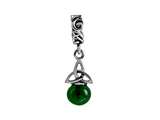 SilveRado™ Murano Dangle Ball Midnight Forest Bead / Charm style: MIB074-1