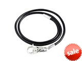 SilveRado™ LC004-50 Leather Black 19.70 inches Bead Necklace style: LC004-50
