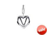 SilveRado™ VR041 Verado Sterling Silver Letter V Bead / Charm with Lobster Clasp style: VR041