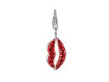SilveRado™ Verado Bling Muwah (Red Lips) Bead / Charm style: VRB343-6