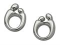 Large Sterling Silver Original Mother and Child® Earrings by Janel Russell