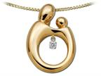 Mother and Child Heartbeat Pendant Necklace by Janel Russell Style number: M291Y41M