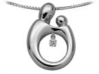 Mother and Child Heartbeat Pendant Necklace by Janel Russell Style number: M293S41M