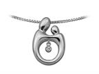 Mother and Child Heartbeat Pendant Necklace by Janel Russell Style number: M294S41M
