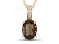 LALI Classics 14kt Yellow Gold Smoky Quartz Oval Pendant Necklace