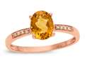 LALI Classics 14k Rose Gold Citrine Oval Ring