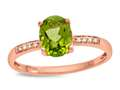 LALI Classics 14k Rose Gold Peridot Oval Ring