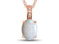 LALI Classics 14kt Rose Gold Opal Oval Pendant Necklace