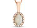 LALI Classics 14k Rose Gold Opal Oval Pendant Necklace