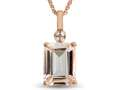 LALI Classics 14kt Rose Gold Morganite Octagon Pendant Necklace