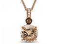 LALI Classics 14kt Rose Gold Morganite Round Pendant Necklace