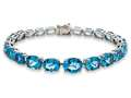 Lali Classics 14kt White Gold 25 Carats Swiss Blue Topaz Bracelet
