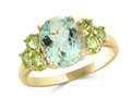 LALI Classics 14k Yellow Gold Green Amethyst Oval Ring