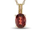 LALI Classics 14k Yellow Gold Garnet Oval Pendant Necklace Style number: LALI1018