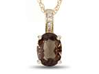 LALI Classics 14k Yellow Gold Smoky Quartz Oval Pendant Necklace Style number: LALI1021
