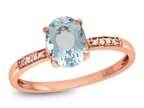 LALI Classics 14k Rose Gold Aquamarine Oval Ring Style number: LALI1075