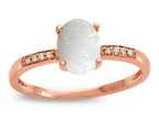 LALI Classics 14kt Rose Gold Opal Oval Ring Style number: LALI1079