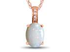 LALI Classics 14kt Rose Gold Opal Oval Pendant Necklace Style number: LALI1083