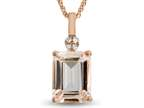 LALI Classics 14kt Rose Gold Morganite Octagon Pendant Necklace Style number: LALI1088