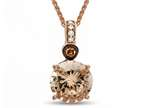 LALI Classics 14k Rose Gold Morganite Round Pendant Necklace Style number: LALI1089