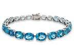 Lali Classics 14kt White Gold 25 Carats Swiss Blue Topaz Bracelet Style number: LALI1091