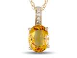 LALI Classics 14k Yellow Gold Citrine Oval Pendant Necklace style: LALI1017