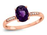LALI Classics 14kt Rose Gold Amethyst Oval Ring style: LALI1074