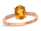 LALI Classics 14kt Rose Gold Citrine Oval Ring style: LALI1077