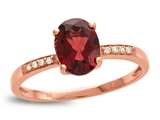 LALI Classics 14kt Rose Gold Garnet Oval Ring style: LALI1078