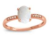 LALI Classics 14kt Rose Gold Opal Oval Ring style: LALI1079