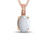 LALI Classics 14kt Rose Gold Opal Oval Pendant Necklace style: LALI1083