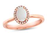 LALI Classics 14k Rose Gold Opal Oval Ring style: LALI1084