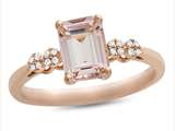 LALI Classics 14k Rose Gold Morganite Octagon Ring style: LALI1085