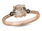 LALI Classics 14kt Rose Gold Morganite Round Ring style: LALI1086