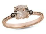 LALI Classics 14k Rose Gold Morganite Round Ring style: LALI1086