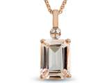 LALI Classics 14k Rose Gold Morganite Octagon Pendant Necklace style: LALI1088